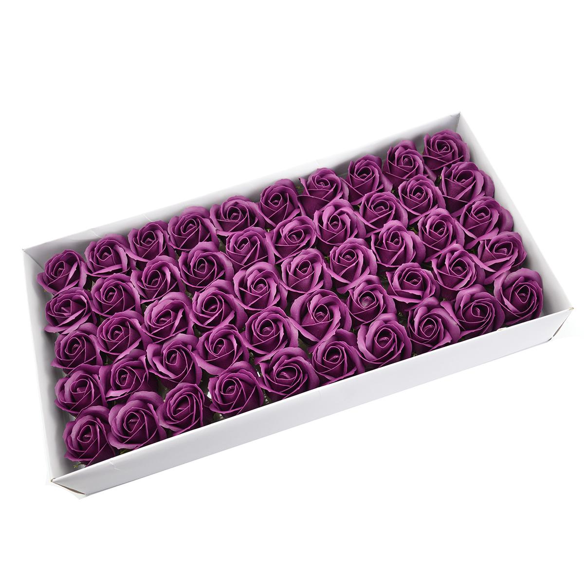 Set 50 trandafiri sapun parfumati, atingere reala, marsalla