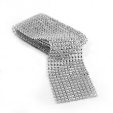 Rola strasuri flexibila 6cm x 1.8m, argintiu