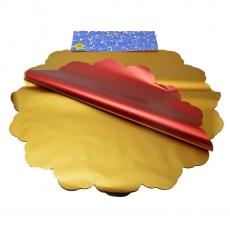 Celofan Rotund 50CM metalizat auriu cu rosu