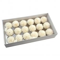 Set 18buc crizanteme de sapun parfumate atingere reala alb 37-6