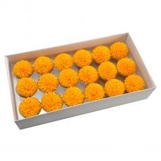 Set 18buc crizanteme de sapun parfumate atingere reala orange 37-8