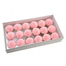 Set 18buc crizanteme de sapun parfumate atingere reala roz 37-7