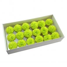 Set 18buc crizanteme de sapun parfumate atingere reala verde 37-10