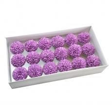 Set 18buc crizanteme de sapun parfumate atingere reala violet 37-9