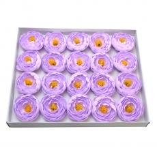 Set 20buc ranunculus de sapun parfumati atingere reala lila 23-28