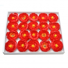 Set 20buc ranunculus de sapun parfumati atingere reala rosu 23-29