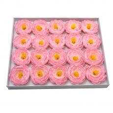 Set 20buc ranunculus de sapun parfumati atingere reala roz
