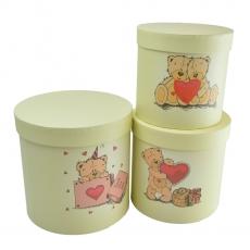 Set 3 cutii Bears crem