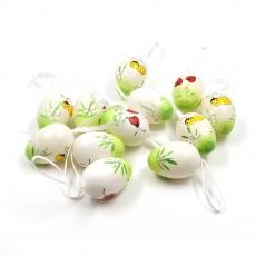 Set 12 oua multicolore cu fundita 4cm