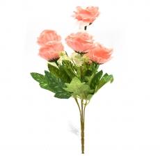 Flori Buchet artificial 6 fire Zinnia roz