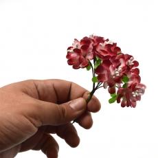 Set 144buc mini crizanteme cu pistil, rosu inchis