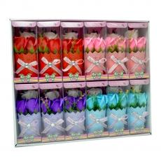 Set 12 ornamente cu trandafiri de sapun culori mixte model 2