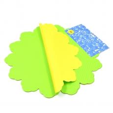 Celofan Rotund 40CM lines verde cu galben