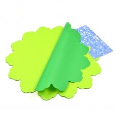 Celofan Rotund 40CM lines verde cu verde inchis
