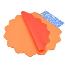 Celofan Rotund 50CM lines portocaliu cu rosu