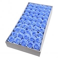 Set 50 trandafiri sapun parfumati, atingere reala, bleo