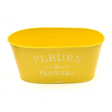 Ghiveci tabla tip jardiniera Fleurs galben