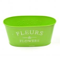 Ghiveci tabla tip jardiniera Fleurs verde