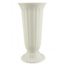 Vaza podea 22x45 cm alb perlat