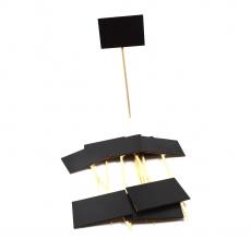 Bete Lemn, Tablita Neagra pt Preturi model 3, 10 buc/set