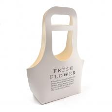 Cutie carton pliabila tip poseta Fresh Flowers alb