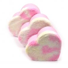 Set 3 cutii inima plush roz cu alb