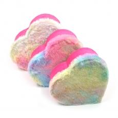 Set 3 cutii inima plush siclam rainbow