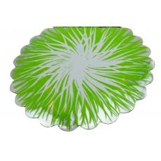 Celofan Rotund Flacari Verde cu Alb