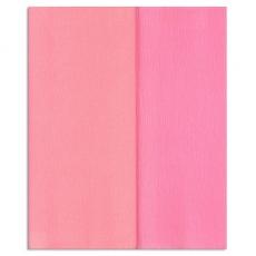 Hartie creponata Gloria Doublette roze deschis-roz, cod 3317