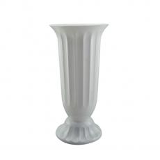 Vaza podea 17x38 cm alb perlat