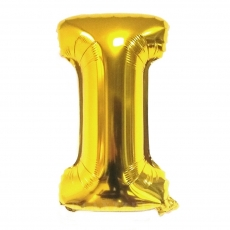 Balon gonflabil auriu 55 cm litera I