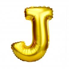 Balon gonflabil auriu 55 cm litera J