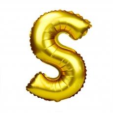 Balon gonflabil auriu 55 cm litera S