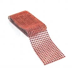 Rola strasuri flexibila 6cm x 1.8m, rosu