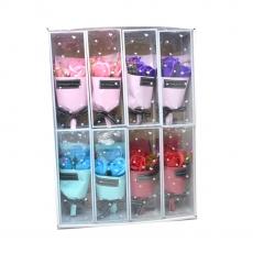 Set 8 Buchetele trandafiri de sapun culori mixte model 1