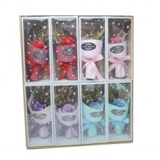 Set 8 Buchetele trandafiri de sapun culori mixte model 2