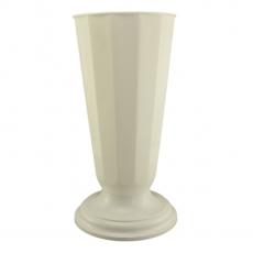 Vaza podea 19x48 cm alb perlat